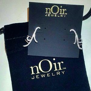 NWT Silver-tone cuff earrings